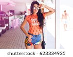 fashion horizontal   image  of ... | Shutterstock . vector #623334935