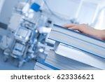 medicine and studies. a stack... | Shutterstock . vector #623336621