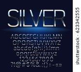 vector set of elegant silver... | Shutterstock .eps vector #623342555