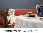 Antique Doll In White Dress ...