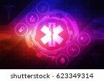 2d illustration medicine... | Shutterstock . vector #623349314