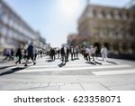 crowd of anonymous people... | Shutterstock . vector #623358071