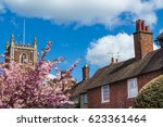 Old English Church Tower And...