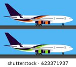 two light big passenger... | Shutterstock .eps vector #623371937