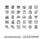 shop and delivery icon set ... | Shutterstock .eps vector #623374949