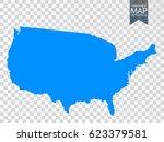 transparent   high detailed map ... | Shutterstock .eps vector #623379581