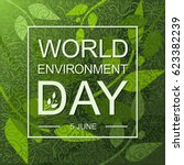 world environment day card or