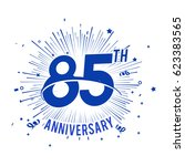 85th anniversary logo with... | Shutterstock .eps vector #623383565