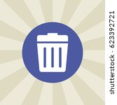 recycle bins icon. sign design. ... | Shutterstock .eps vector #623392721