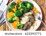 fried chicken liver with... | Shutterstock . vector #623393771