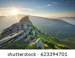 mountain landscape. composition ... | Shutterstock . vector #623394701