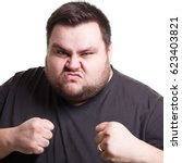 feeling furious. fighting fat... | Shutterstock . vector #623403821