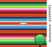 mexican blanket stripes... | Shutterstock .eps vector #623409401