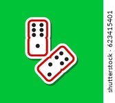 paper sticker on stylish... | Shutterstock .eps vector #623415401
