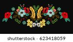 flowers illustration patch... | Shutterstock .eps vector #623418059