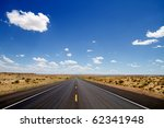 Empty Desert Road Stretching T...