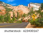 famous zion national park. it... | Shutterstock . vector #623430167