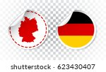 Germany Sticker With Flag And...