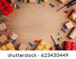 boys toys frame background.... | Shutterstock . vector #623430449