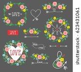set of elements for design  ... | Shutterstock .eps vector #623431061