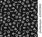 vector geometric pattern with... | Shutterstock .eps vector #623432834