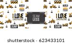 seamless pattern with road... | Shutterstock .eps vector #623433101