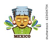 mexico mayan mask icon | Shutterstock .eps vector #623434754