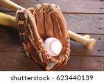 baseball glove  ball and bat   Shutterstock . vector #623440139