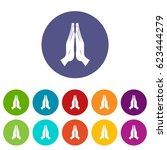 prayer icons set in circle...