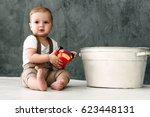 portrait of lovely little boy... | Shutterstock . vector #623448131
