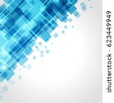 abstract technology bright blue ... | Shutterstock .eps vector #623449949
