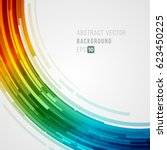 abstract technology bright... | Shutterstock .eps vector #623450225