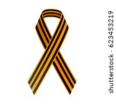 st george black and gold ribbon.... | Shutterstock .eps vector #623453219