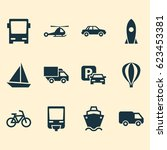 shipment icons set. collection... | Shutterstock .eps vector #623453381