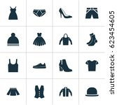 dress icons set. collection of... | Shutterstock .eps vector #623454605