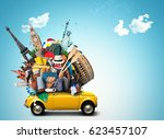 vacation and travel  a huge... | Shutterstock . vector #623457107