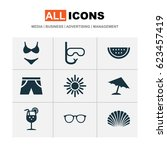season icons set. collection of ... | Shutterstock .eps vector #623457419