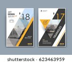 abstract a4 brochure cover... | Shutterstock .eps vector #623463959
