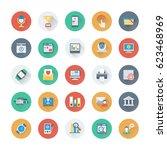 digital marketing colored... | Shutterstock .eps vector #623468969