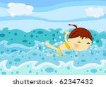 swimming girl | Shutterstock . vector #62347432