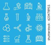 scientific icons set. set of 16 ... | Shutterstock .eps vector #623478911