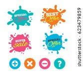 best offer and sale splash... | Shutterstock .eps vector #623479859