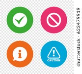 information icons. stop... | Shutterstock .eps vector #623479919