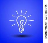 light bulb line icon vector....