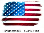 american flag on plain... | Shutterstock . vector #623484455