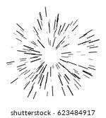 sun burst shapes. dynamic style.... | Shutterstock .eps vector #623484917