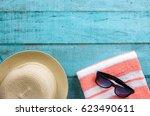 summer holiday background....   Shutterstock . vector #623490611