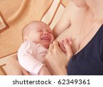 Mother and baby girl - stock photo