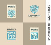 Stock vector the maze logo 623495657