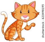 cute cat sitting alone... | Shutterstock .eps vector #623498195